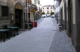 Straße: Bolsena (VT), Italien